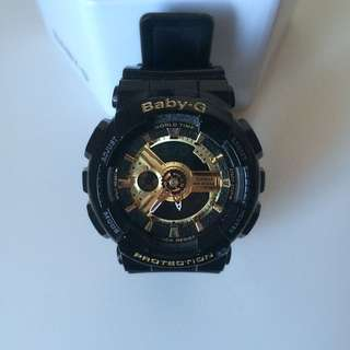 BABY G WATCH - BLACK AND GOLD