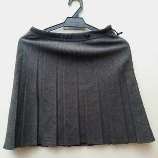 Blook A-Line Pleated Grey skirt
