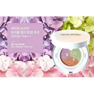 美妍社-自然樂園夢幻三色妝前氣墊粉餅