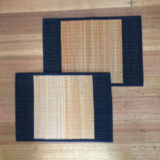 2 X Bamboo Placemats