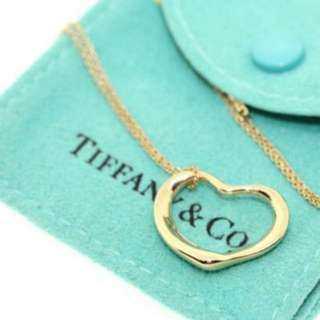 Tiffany&Co. Open Heart 18K金 愛心項鍊