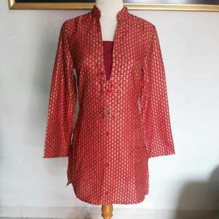 ACCENT Maroon Ethnic Pattern Blouse