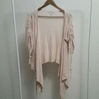 Forever New soft Pink Waterfall Cardigan S12