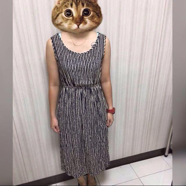 🎈夏季米藍色系背心洋裝