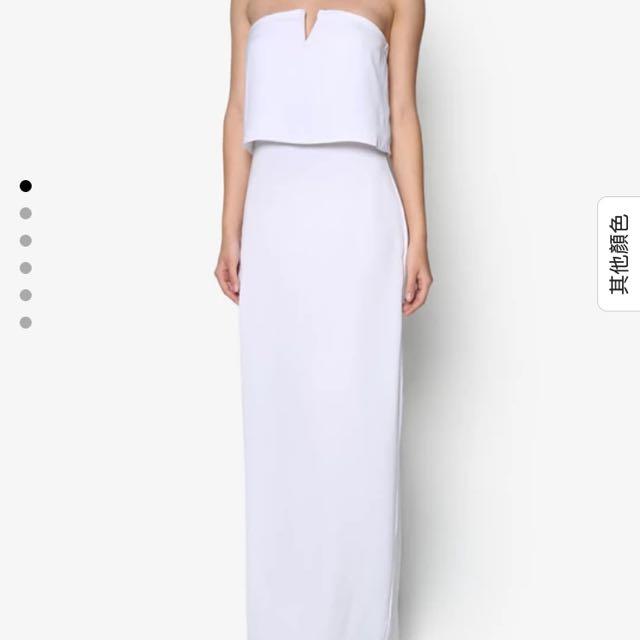 平口長洋裝