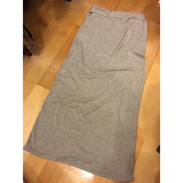 棉質長窄裙