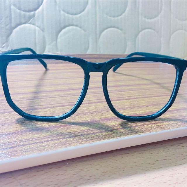 二手 假眼鏡 無鏡片眼鏡 黑色眼鏡