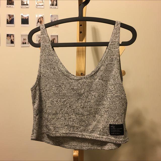 韓 全新 灰混色針織背心 偏短版 可以裡面搭比基尼 素T