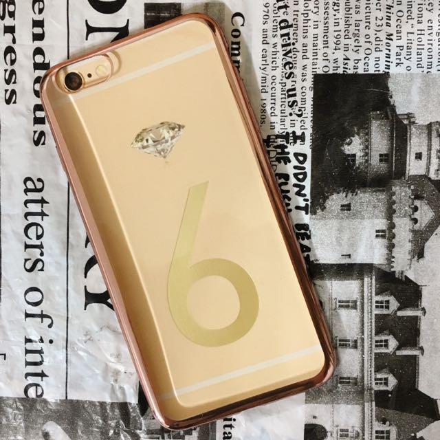 (現)【玫瑰金框 i6 plus/i6s plus 手機殼】