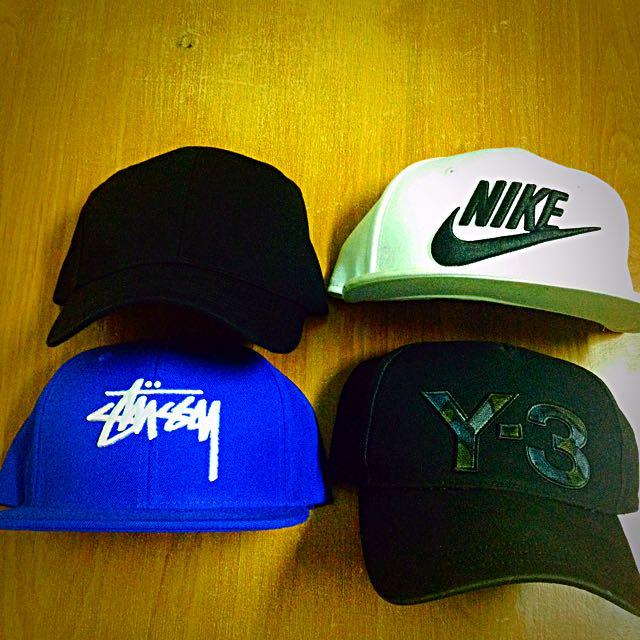 棒球帽 Snap Back 平簷 潮帽 Y-3 Nike Stussy  Zara 帽子 可調整 可單買或一起買