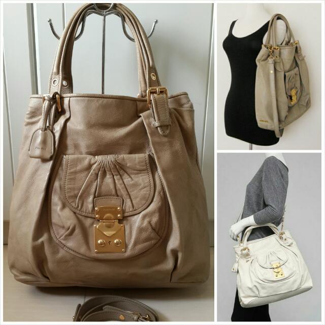 Authentic Miu Miu Large Leather Bag