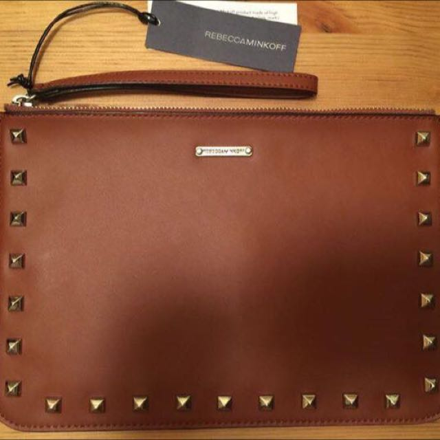 AUTHENTIC REBECCA MINKOFF STUDDED CLUTCH/POUCH