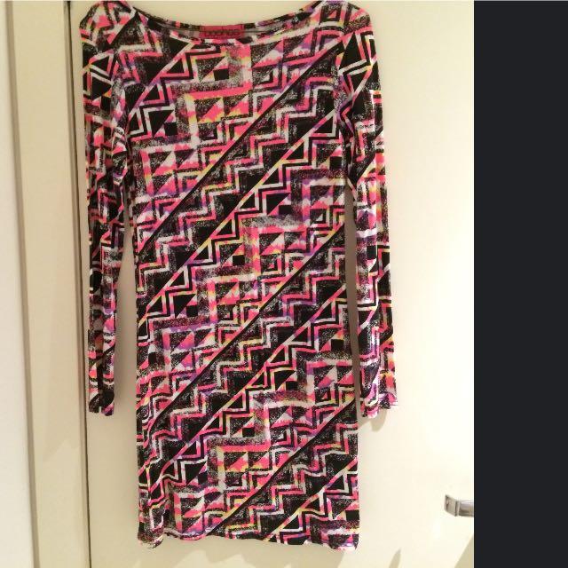 Aztec Colour Midi Length Dress Size 8