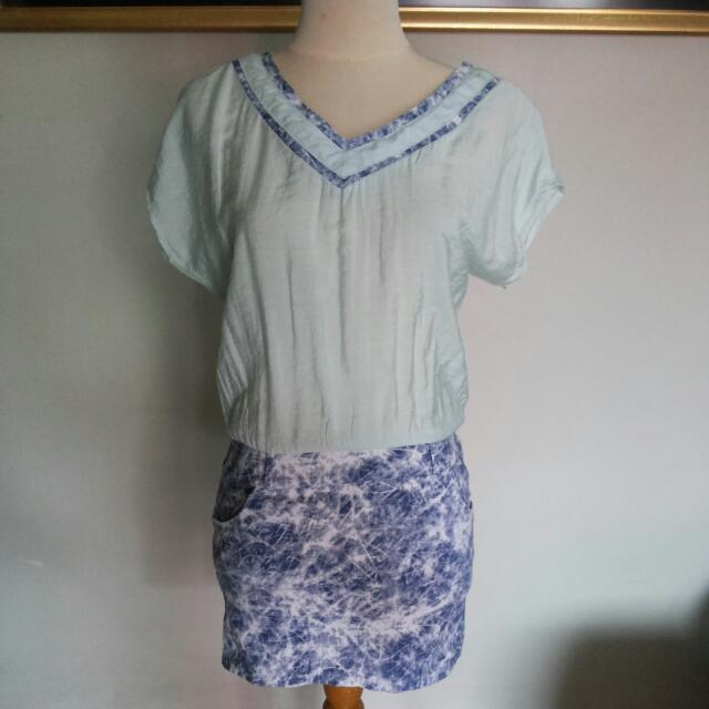 Baby Blue Acid Blouse
