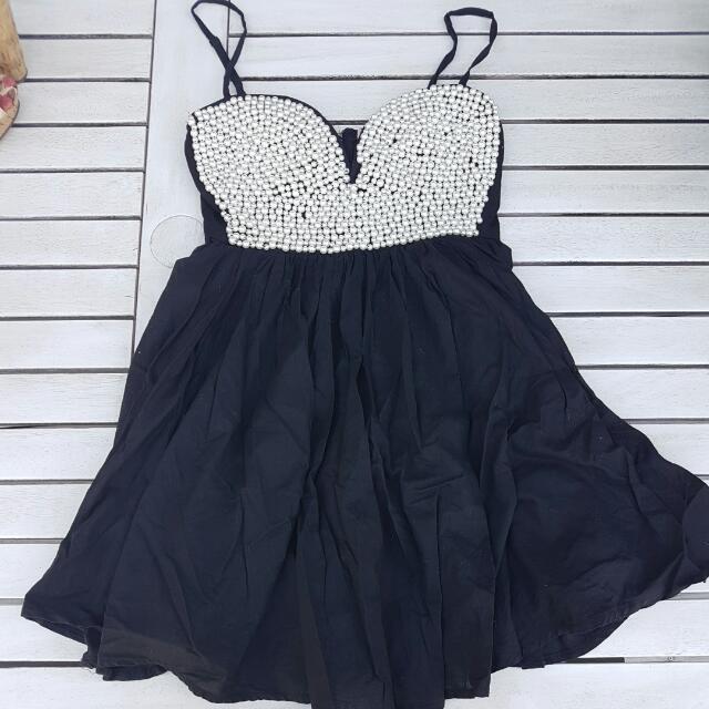Beaded Party Dress Sz 8