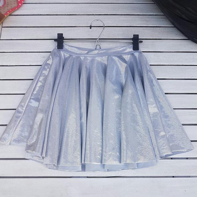 Blackmilk Silver Skirt Sz M