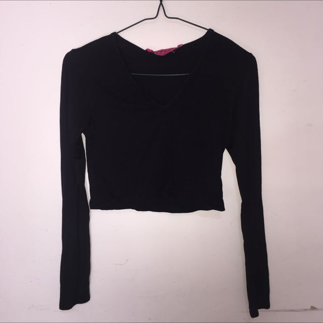 Boohoo Long Sleeve Crop