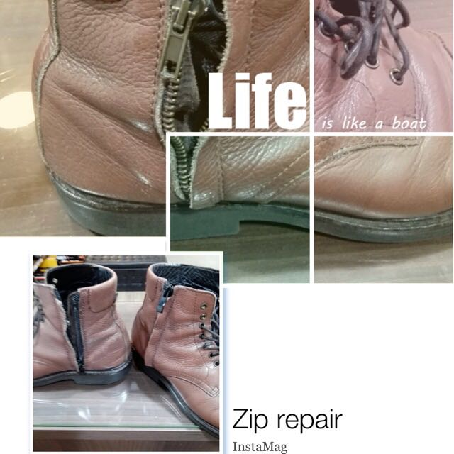 Boots Zip Repair Mens Fashion Footwear On Carousell
