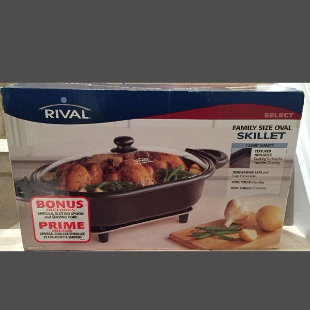 BRAND NEW in box rival family size oval skillet