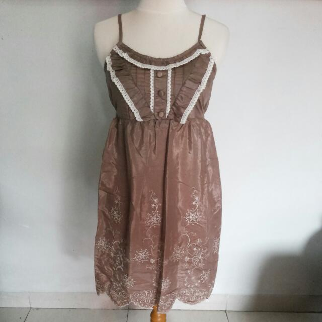 Brown Lace Camisole / Baby Doll Dress