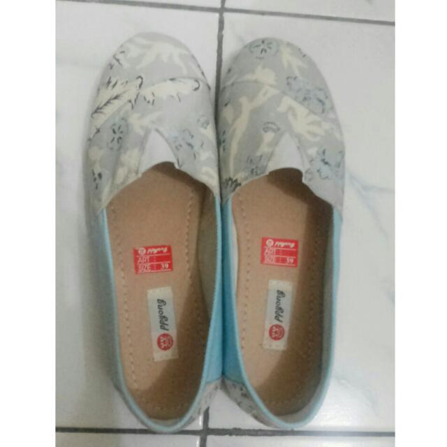 Berrybenka Canvas Blue Slip On