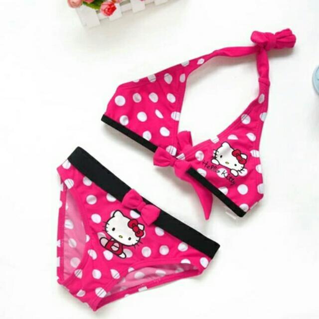 be566d8a54 Cartoon Baby Girls Swimwear Cute Hello Kitty Swimsuit Kids Bikini ...