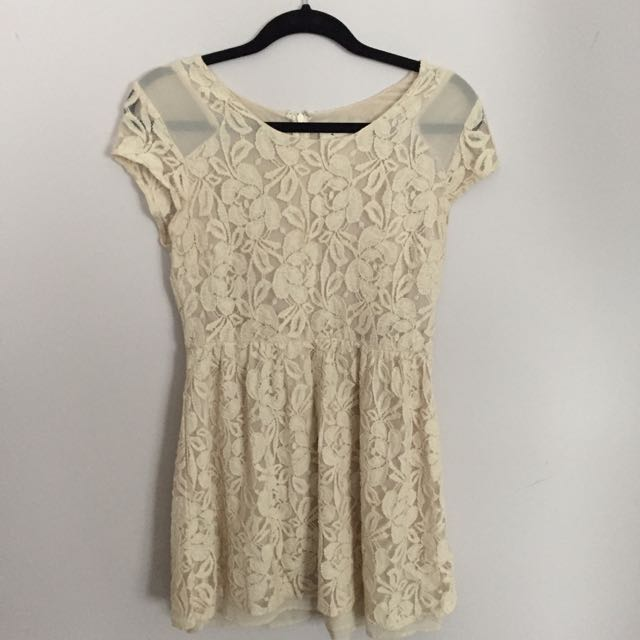 Cream Coloured Lace Dress