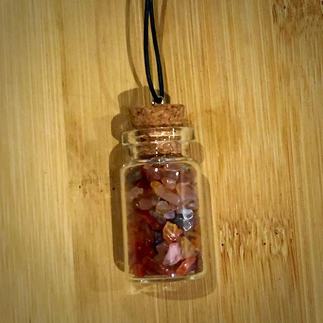 Crystal Pendant (Red/Orangish)