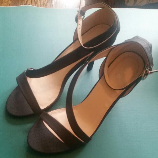 Diba Black Kitten Heel