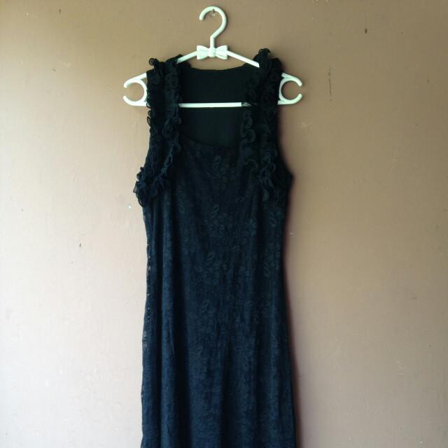Black Party Dress Gaun Hitam buat Pesta