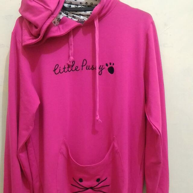 Elips Little Pussy Pink Hooded  Jumper