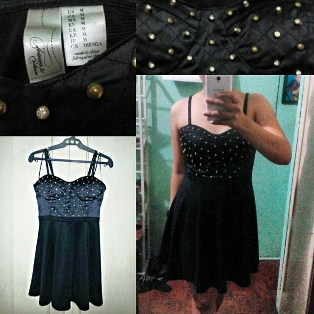 Forever 21 Black Studded Dress