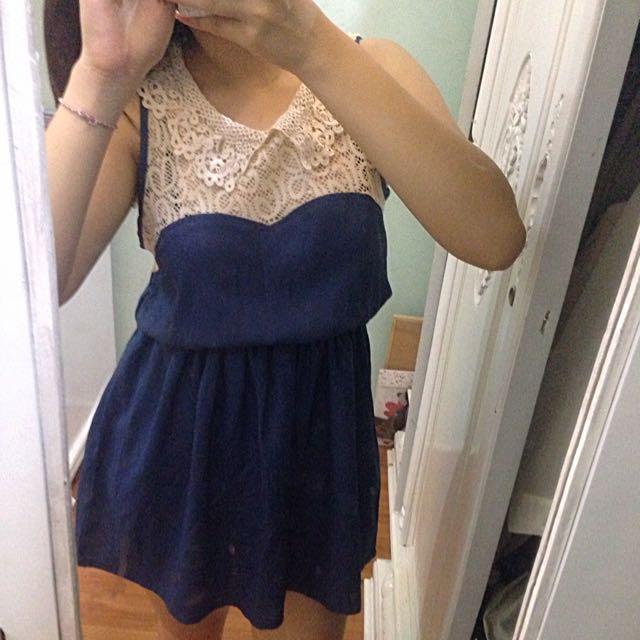 Gaudi Blue Short Dress