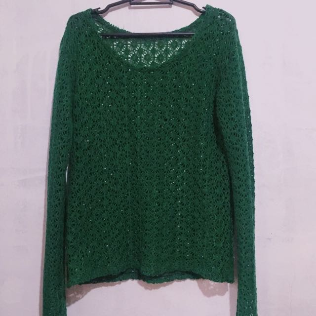 Green Knitted Cover-Up