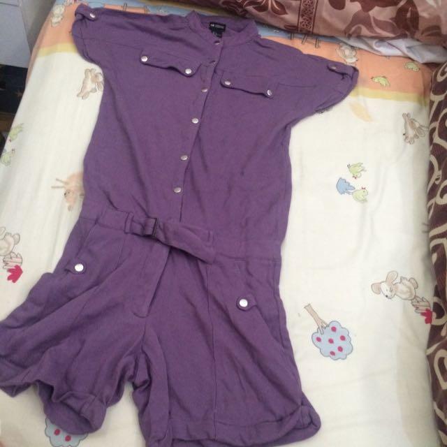 H&M Conscious Collection Purple Jumpsuit
