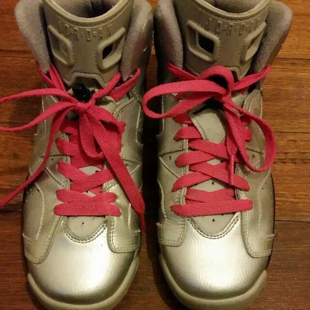 Jordan 6 Moon Boots Silver/ Hot Pink