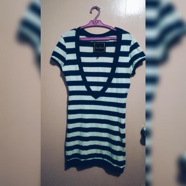 Kamiseta™ Short Sleeve Dress (Stripes)