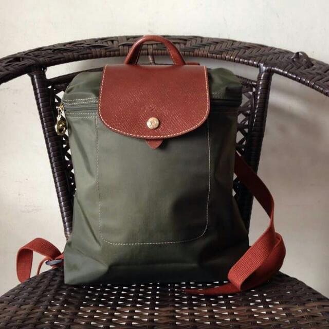 Latest Cheap Portable Longchamp Le Pliage Backpack Green