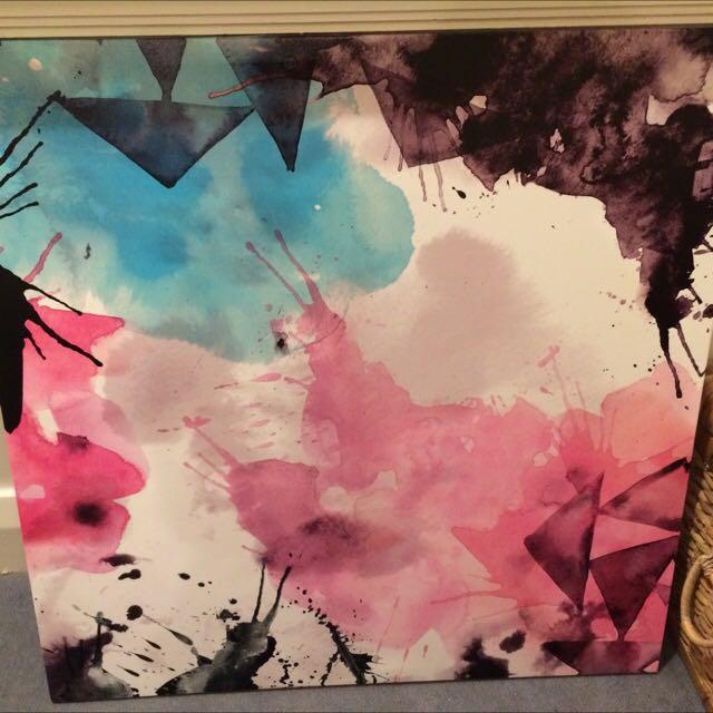 Pastel Print Canvas