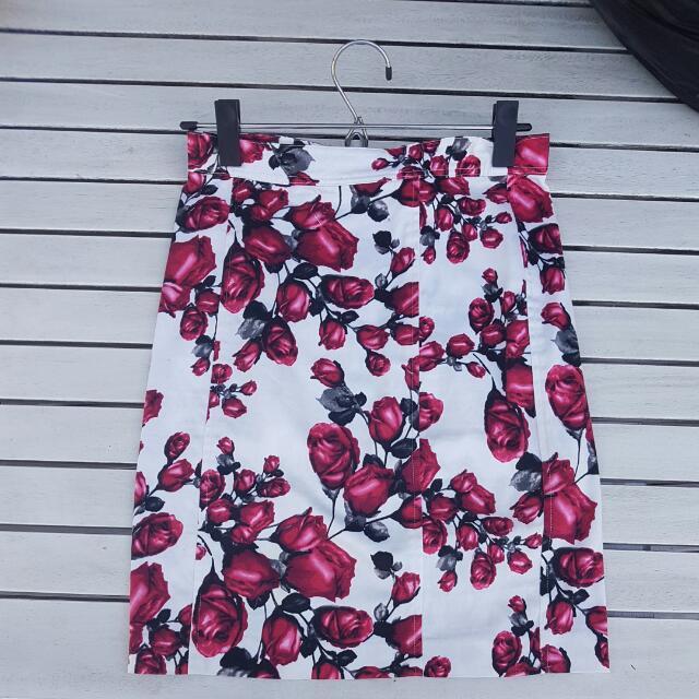 Princes Highway Pencil Skirt Floral 6