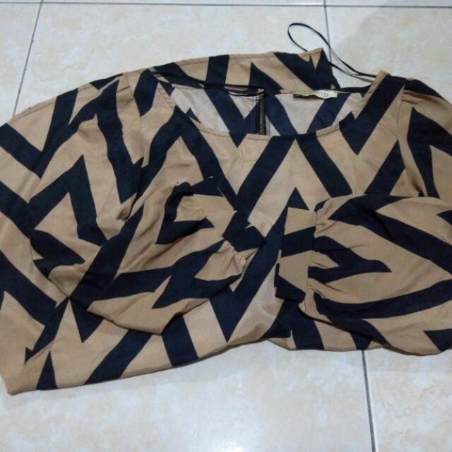 Printed mini Dress/long Blouse