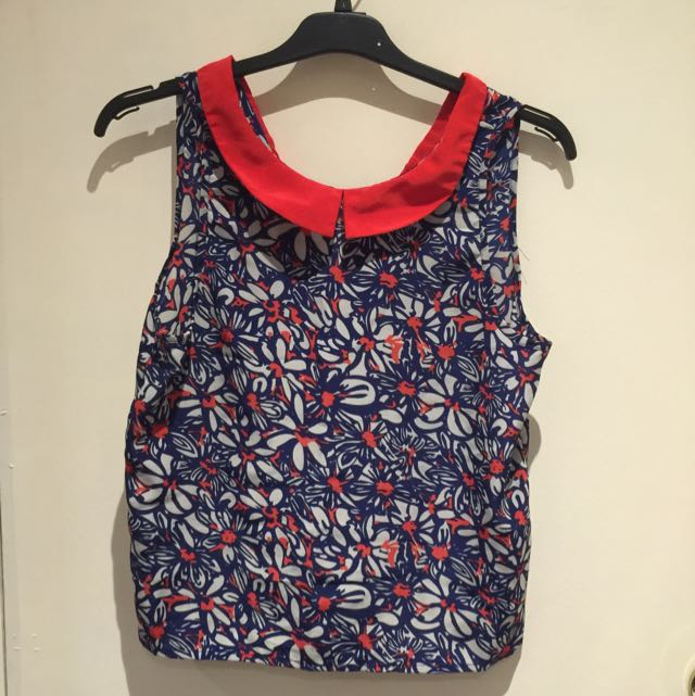 Pending - Red & Blue Floral Sleeveless