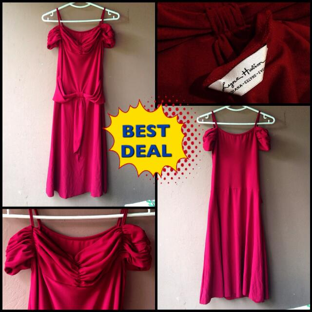 Red Dress Gaun Merah Maroon buat Pesta