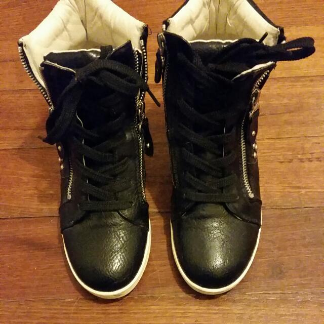 Rock Star Sneaker With Wedge