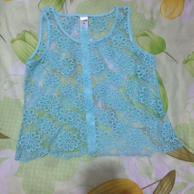 Size 10 See Through Shirt