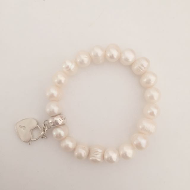 Thomas Sabo Fresh Water Pearl Bracelet With Locket Charm