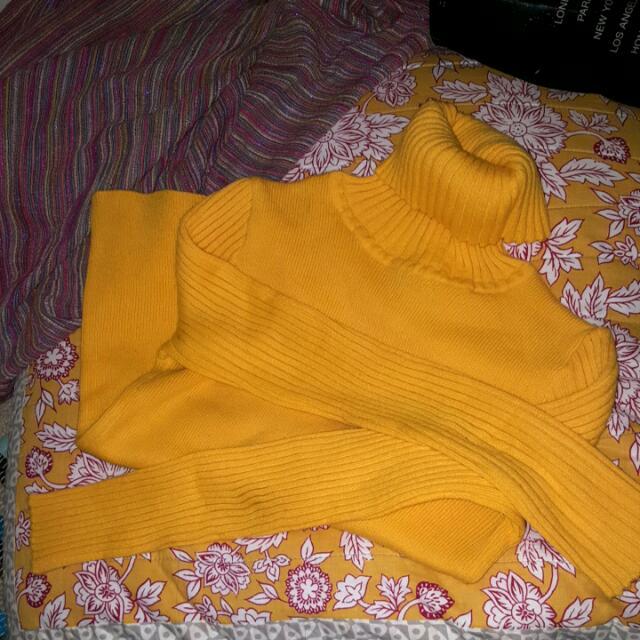 Yellow Turtle Neck,  Vintage