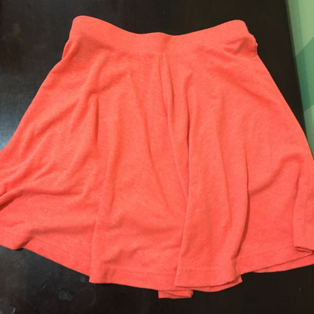Topshop Petite Orange Skater Skirt
