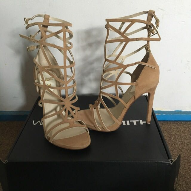 Windsor Smith Tan Heels Sz 5