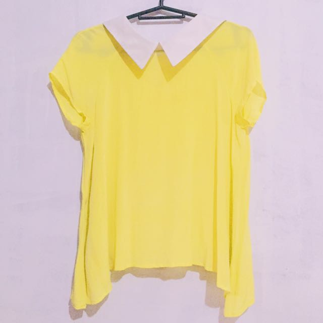 Yellow Collared Top